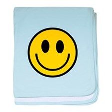 70's Smiley Face baby blanket