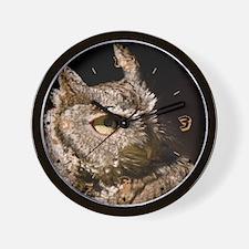 Burrowing Owl Profile Wall Clock
