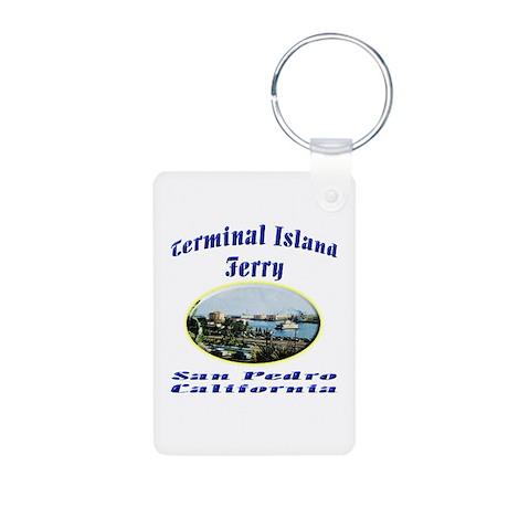 Terminal Island Ferry Aluminum Photo Keychain