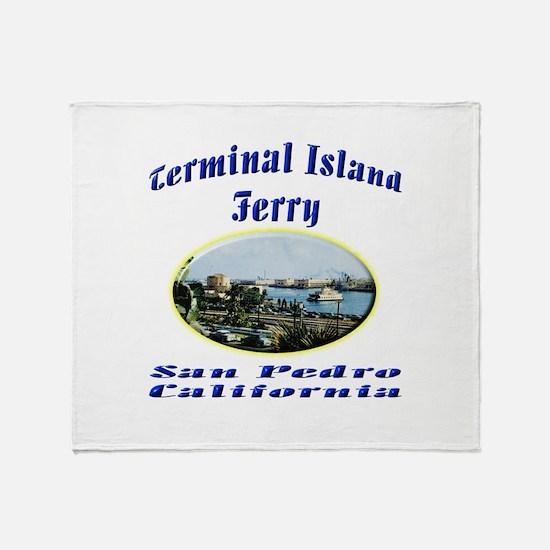 Terminal Island Ferry Throw Blanket