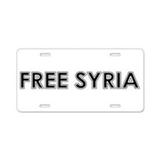 Cute Free palestine Aluminum License Plate