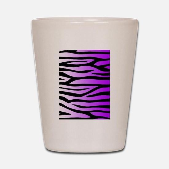 Purple Zebra Print Shot Glass