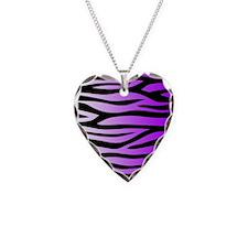 Purple Zebra Print Necklace