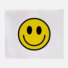 70's Smiley Face Throw Blanket