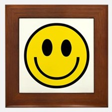 70's Smiley Face Framed Tile