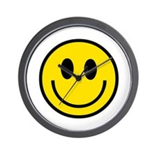 70's Smiley Face Wall Clock