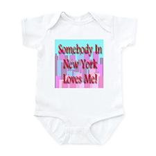 Somebody In New York Loves Me Infant Creeper
