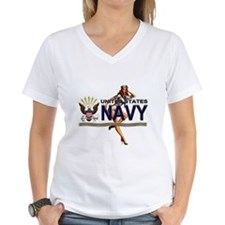 USN Navy Pin Up Babe Shirt