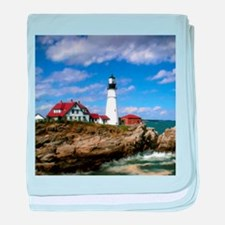 Maine Lighthouse baby blanket