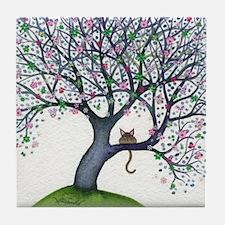 New York Stray Cat Tile Coaster