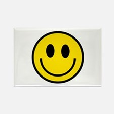 70's Smiley Face Rectangle Magnet
