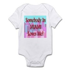 Somebody In Miami Loves Me! Infant Creeper