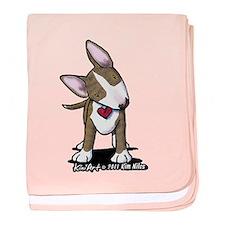 Brindle Bull Terrier baby blanket