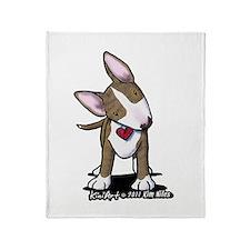 Brindle Bull Terrier Throw Blanket