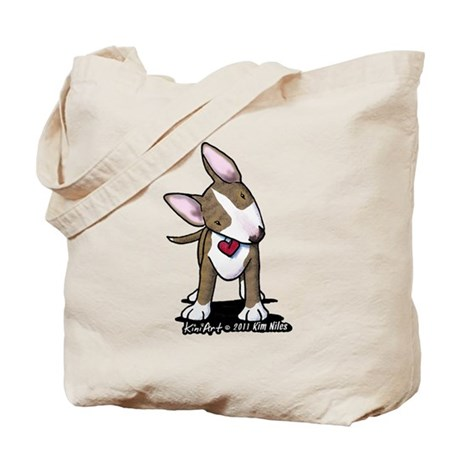 Brindle Bull Terrier Tote Bag