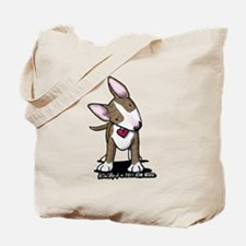 Brindle Bull Terrier Tote Bag
