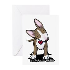 Brindle Bull Terrier Greeting Cards (Pk of 20)