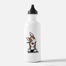 Brindle Bull Terrier Water Bottle