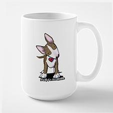 Brindle Bull Terrier Large Mug