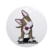 Brindle Bull Terrier Ornament (Round)