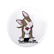 "Brindle Bull Terrier 3.5"" Button"