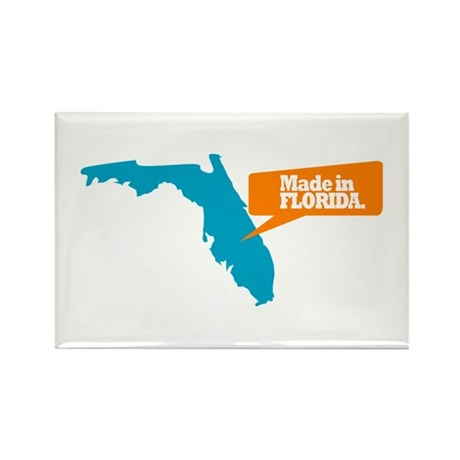 State Quote - Made In Florida Rectangle Magnet