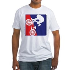 BMX Rider in Red White and BLUE Shirt