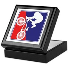 BMX Rider in Red White and BLUE Keepsake Box