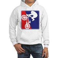 BMX Rider in Red White and BLUE Hoodie