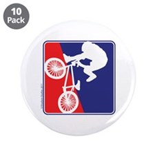 "BMX Rider in Red White and BLUE 3.5"" Button (10 pa"