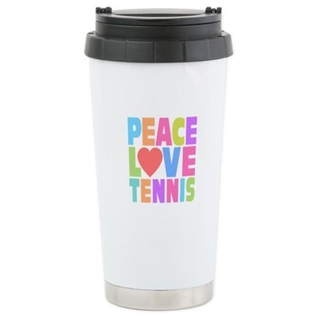 Peace Love Tennis Stainless Steel Travel Mug