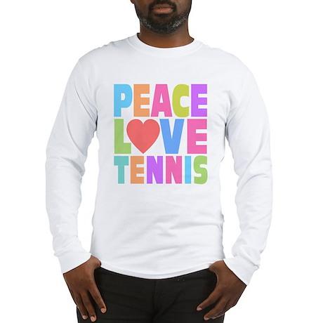 Peace Love Tennis Long Sleeve T-Shirt