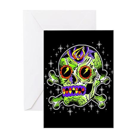 Zombie Sugar Skull Greeting Card