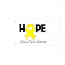 Hope Sarcoma Ribbon Aluminum License Plate