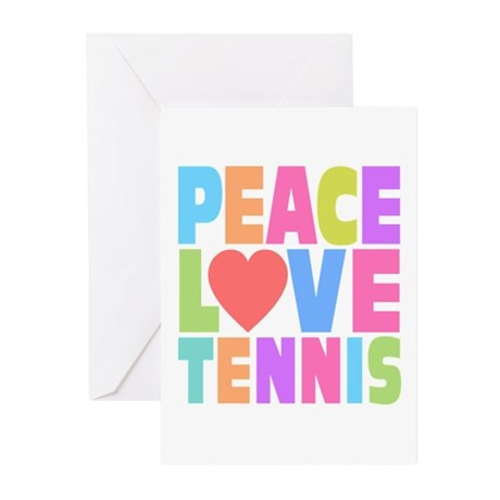 Peace Love Tennis Greeting Cards (Pk of 20)
