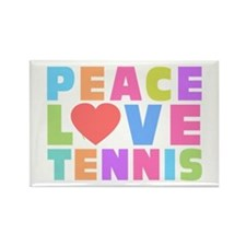 Peace Love Tennis Rectangle Magnet