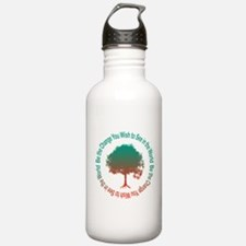 Cute Be the change you wish to see in the world mahatma Water Bottle