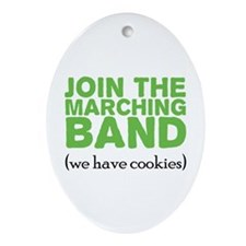 Join the Marching Band Ornament (Oval)