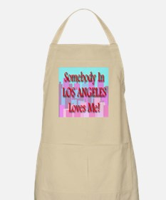 Somebody In Los Angeles Loves BBQ Apron