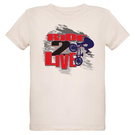 RIDE 2 LIVE BMX BIKER Organic Kids T-Shirt