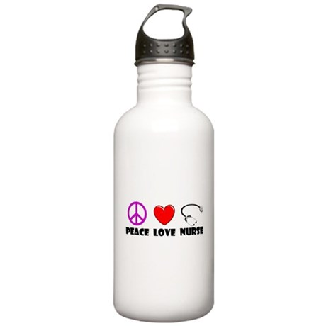 Peace Love Nurse Stainless Water Bottle 1.0L