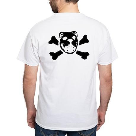 Logo & Skull Duo - White T-Shirt