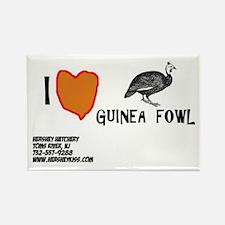 I love Guinea Fowl Magnet