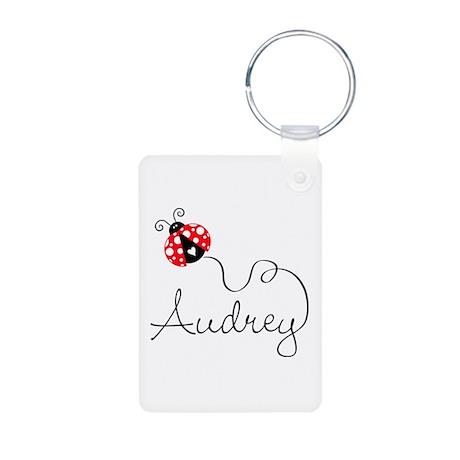 Ladybug Audrey Aluminum Photo Keychain