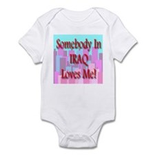 Somebody In Iraq Loves Me! Infant Creeper
