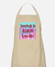 Somebody In Illinois Loves Me BBQ Apron