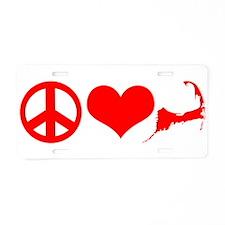 Peace Love Cape Cod Aluminum License Plate