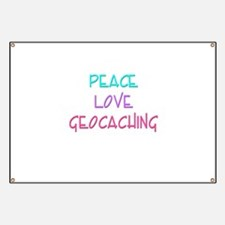 Peace Love Geocaching Banner