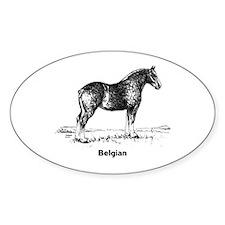 Belgian Horse Decal