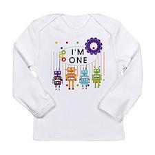 Robot First Birthday Long Sleeve Infant T-Shirt